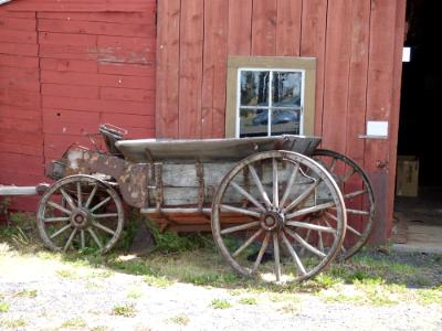 Buggy by the Barn